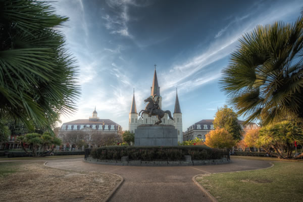 Jackson Square, one of the stops on our French Quarter History Tour