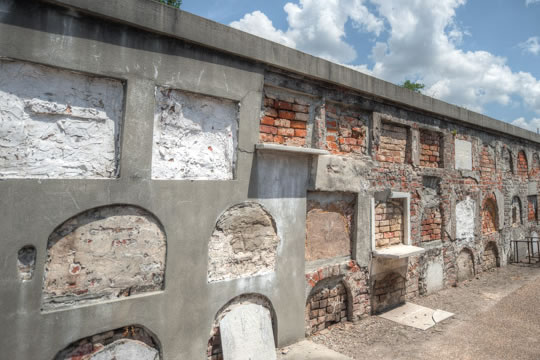 St. Louis Cemetery, location of our Cemetery Tours