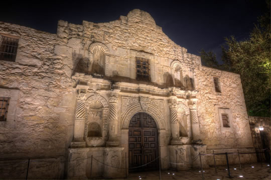 The Alamo, one of the most popular attractions in San Antonio