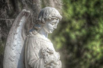 An Angel Statue in Bonaventure Cemetery