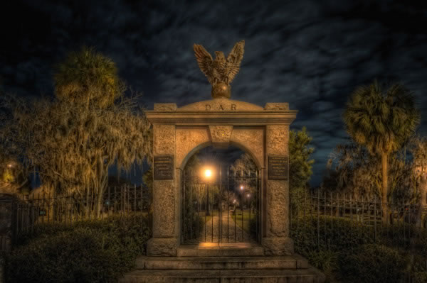 Colonial Park Cemetery, one of the stops on the Dead of Night Tour.