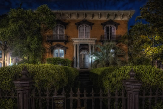 The Mercer-Williams House, featured on many ghost tours for children.