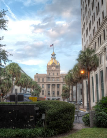 Johnson Square - Savannah's first Square