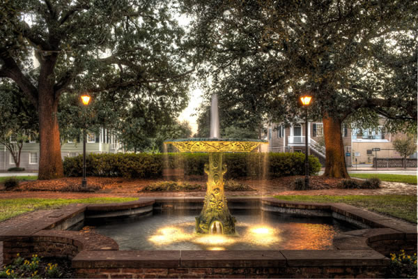 The Wormsloe Fountain in Columbia Square