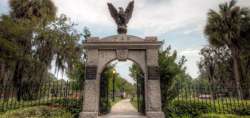 The DAR Gate at Colonial Park Cemetery