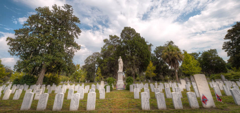 The Civil War burying area of Laurel Grove Cemetery
