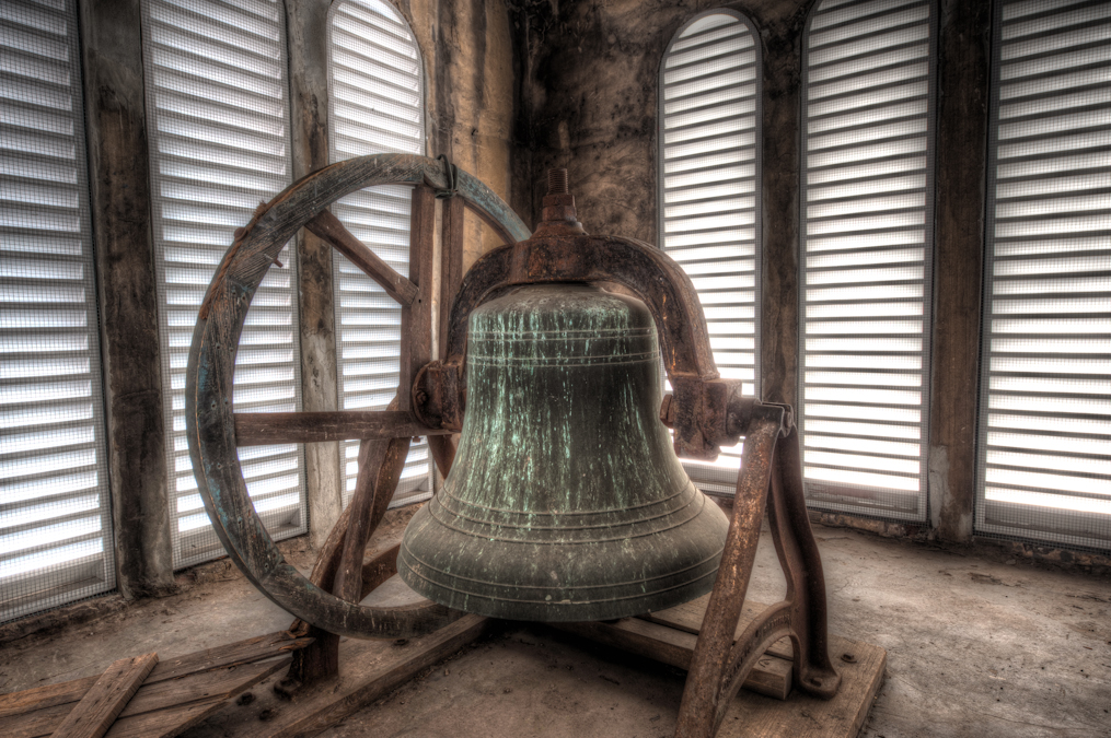 The Bell inside of the Bell Tower on the First Afircan Baptist Church