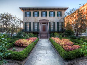The Andrew Low House, one of Savannah's many historic homes.