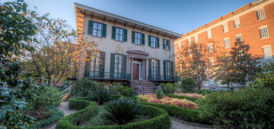 Lafayette Square, which is where you can find this historic Savannah home.