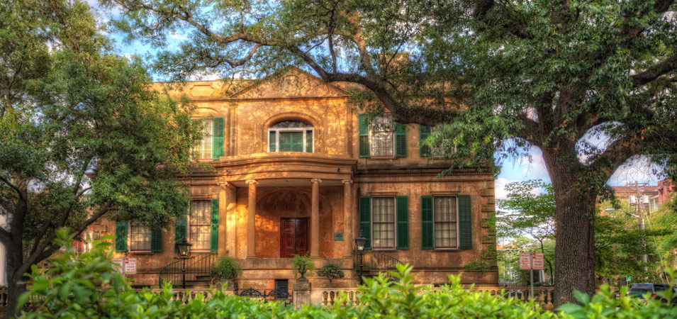 The Owens-Thomas House and Slave Quarters, one of Savannah's old mansions which you can take a guided tour of.