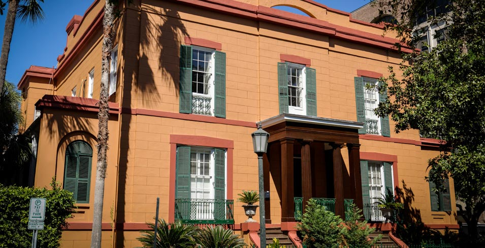 The Sorrel Weed House, one of Savannah's historic mansions on Madison Square