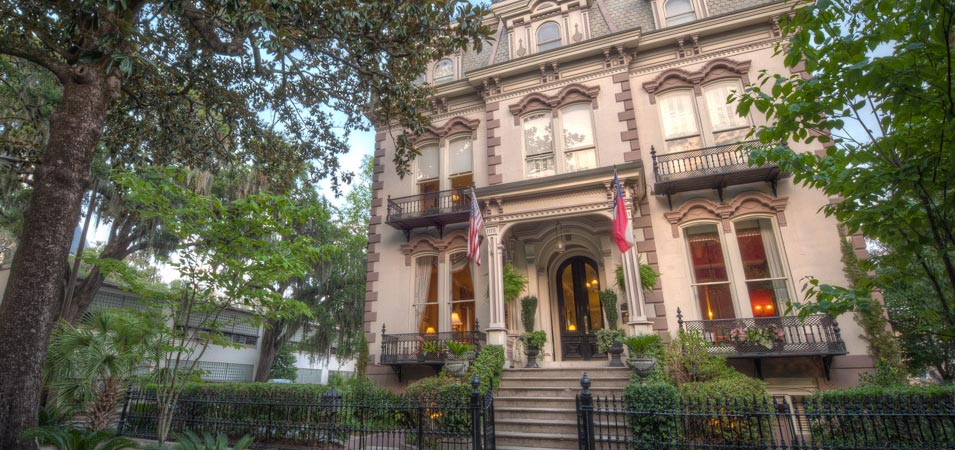 The Hamilton Turner Inn, which is a historic hotel on Lafayette Square. It is a great hotel when staying in Savannah..