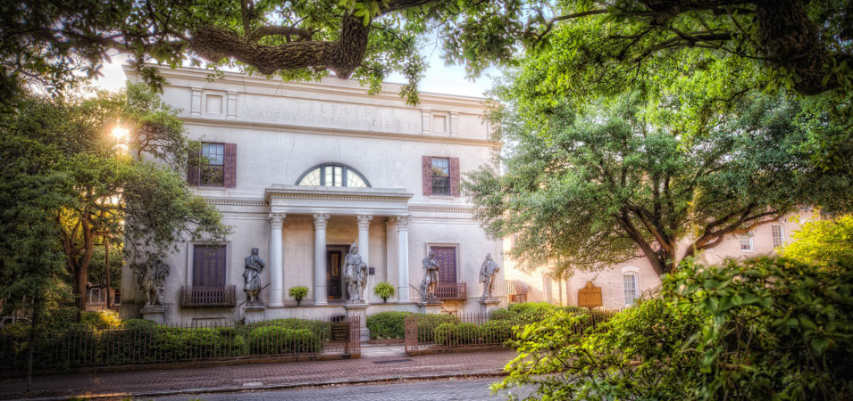 The Telfair Museum, one of Savannah's Art Museums, that can be found on Telfair Square.