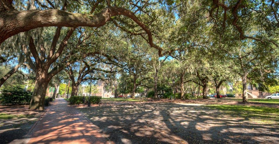 Calhoun Square, in Savannah Georgia