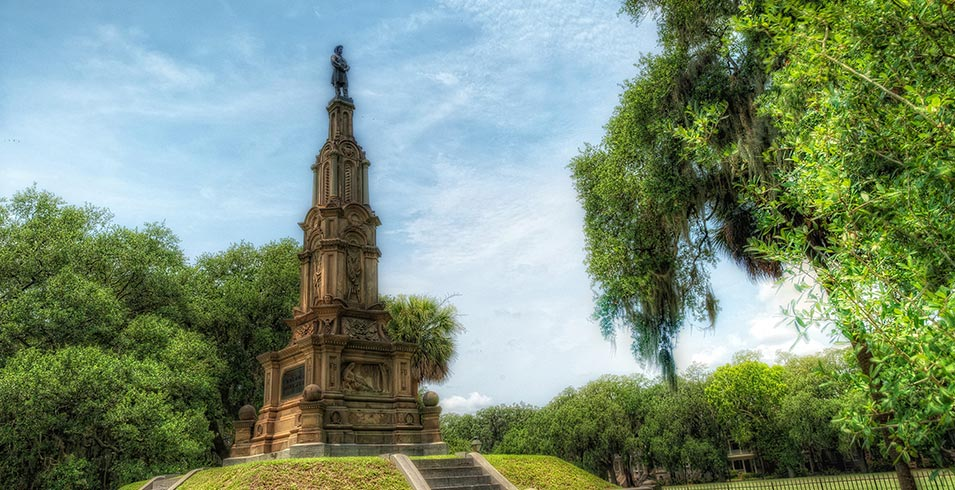 The Confederate/Civil War Monument, the large monument that you can find in Forsyth Park.
